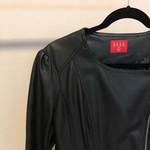 Elle Jackets & Coats - EUC   Elle Pleather Black Jacket